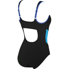 arena Makimurax Low C Cup One Piece Swimsuit Damen black-bright blue-turquoise